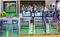 Metal Material Football Shooting Machine / Soccer Game Machine