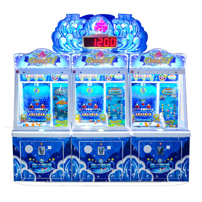 Ocean Elf Video Redemption Arcade Machines Coin Operated Pearl Fisher Ball Pusher