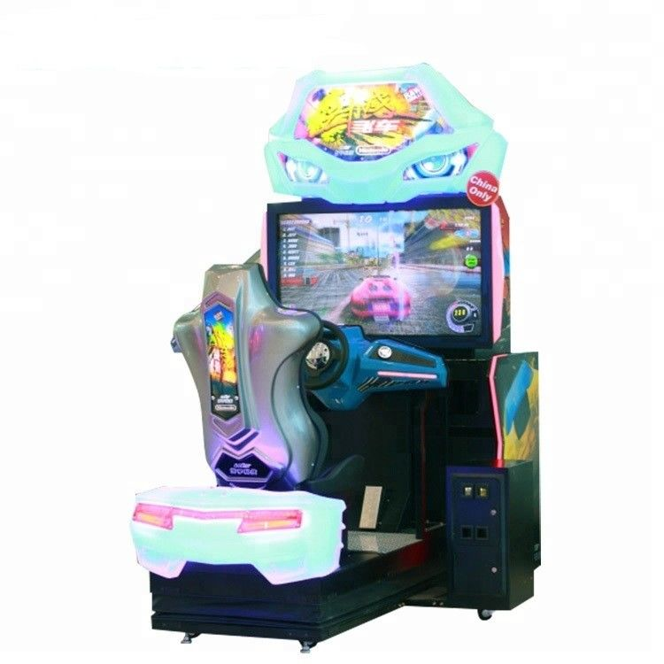 350W 110V Car Racing Arcade Game Machine For Kids 5 ~ 12 Years Old